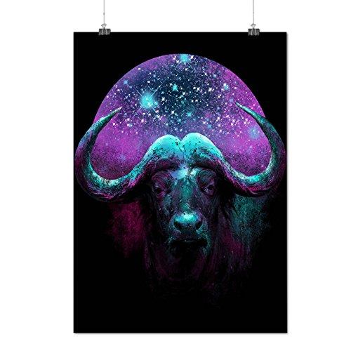 wild-buffalo-star-horn-beast-matte-glossy-poster-a2-60cm-x-42cm-wellcoda