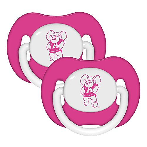 Baby Fanatic Pink Pacifier, Alabama, 2-Count