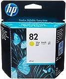 Hewlett Packard No 82 Yellow Ink Cart DesignJet 10ps 20ps 50ps 500 800