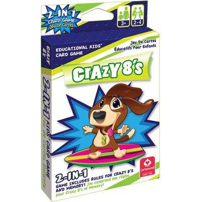Cartamundi 1431 2 In 1 Card Game Crazy 8'S & Memory