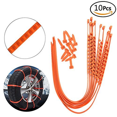 BaiFM Portable Emergency Traction Aid Anti-slip Chain Vehicle Snow Chains Ice & Snow Traction Cleats for Bad Weather