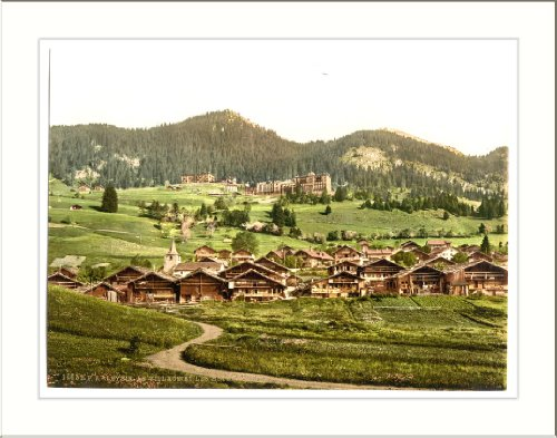 Leysin general view of village and hotels Nand Canton of Switzerland, c. 1890s, (L) Library Image