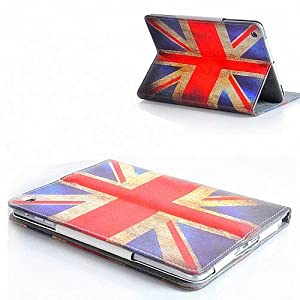 Apple Retro Vintage Union Jack PU Leather Wallet Flip Case Cover for The New iPad Mini Full Sleep Wake Function ! Free Screen Protector