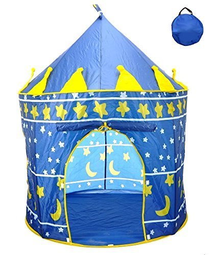 Star Castle Prince House Indoor Boys Blue Tent Ourdoor Kids Play Hut by POCO DIVO by POCO DIVO bestellen