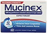 Mucinex Maximum Strength 12-Hour Chest Congestion Expectorant Tablets, 42 Count