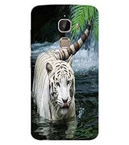 ColourCraft White Tiger Design Back Case Cover for LeEco Le 2