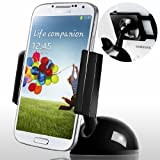 "Car Mount, Caseology [One Touch] Universal Smartphone Car Mount Holder [Black] [Air Suction] Windshield Dashboard Car Mount Cradle Holder (expands 2.16"" to 3.9"") for Samsung Galaxy S5S4/S3/S2 Note 4/3/2 Apple iPhone 6/6S/5/5S/4/4S HTC One M8/M7 Google Nexus 6/5/4 LG G3/G2"