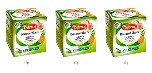 DUCROS - Aides Culinaires - Court bouillons et Bouquets Garnis - Bouquet garni pour legumes et potages - lot de 3