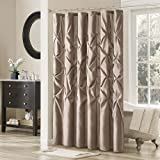 Laurel Polyester Shower Curtain Color: Mushroom