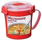 Sistema Microwave Soup Mug - 656 ml, Red