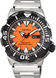 2nd Generation Monster Automatic Diver Stainless Steel Case and Bracelet Sunburst Orange Tone Dial Day and Date