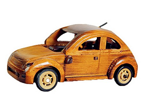 Vintage Handmade Wooden car model Home Furnishing decoration--Yellow