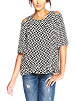 Ella Richter Paris Blusa Kimmy (Negro / Blanco)
