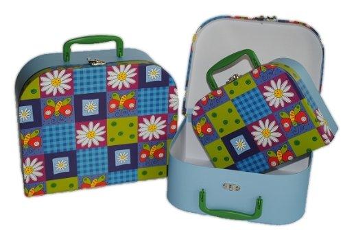 3 tlg. Set Kinderkoffer Groß Mittel Klein blau