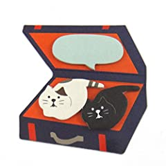 concombre トランク猫ふせん(2匹の子猫)