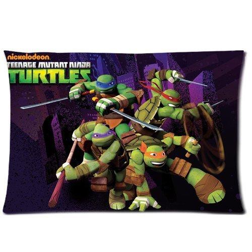 Generic Custom Cartoon Tmnt Teenage Mutant Ninja Turtles Printed Zippered Rectangle Pillowcase Cushion Cover 20*30(One Side) front-980837