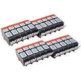 20x schwarz PGI-520BK Tintenpatronen mit Chip kompatibel zu Canon für Canon Pixma iP3600 iP4600 iP4600X iP4700 MP 980 MP 990 MP 540 MP 550 MP 560 MP 620 MP 630 MP 640 MP 640R MX860 MX870