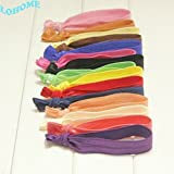 Lohome(Tm) 20 Pack/Set Multi Color Hair Ties Ponytail Holders No Crease Ouchless Elastic Ribbon Hair Ties