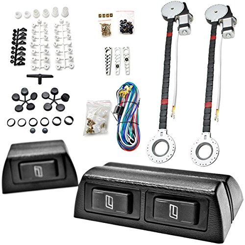Full Complete Car Truck 2 Window Automatic Power Kit With 3 Switches Kit