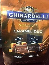 Ghirardelli Chocolate Square Caramel Duo - Milk Chocolate Caramel & Sea Salt Caramel - 26 Oz Bag