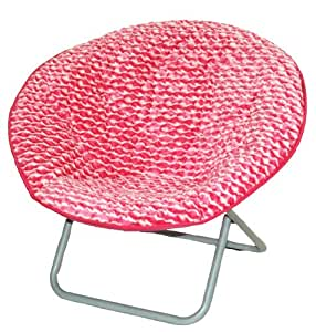 Amazon Com Molly N Me Wave Fur Snuggle Chair Pink White