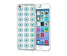 buy Mypolaroid Apple Iphone 6S Plus Case ,Personalized Popular Design , Tpu Transparent Skin Scratch-Proof Case For Iphone 6S Plus (2015)/ 6 Plus / 6P (2014)(New)--White Bottom And Blue Circles