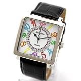 [ブラックジョーカー]腕時計 ダイヤモンド&Swarovski(スワロフスキー) ザ・ルーレット イタリア革ベルト メンズ 時計