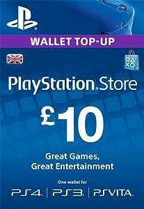 PSN CARD 10 GBP WALLET TOP UP [PS4, PS3, PS Vita PSN Code - UK account]