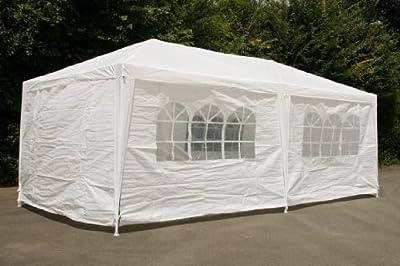 CampFeuer - Pavillion Partyzelt 3x6m, weiß - mit allen Seitenteilen, Gartenzelt komplett verschließbar von CampFeuer bei Gartenmöbel von Du und Dein Garten
