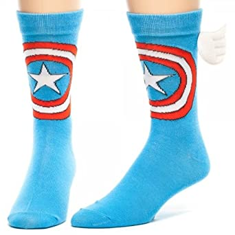 Marvel Captain America W/Wings Crew Socks (Standard)