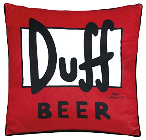 The Simpsons Duff Cuscino decorativo rosso