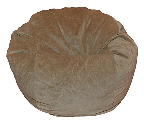 Ahh Products Microsuede Tan Washable Kid Bean Bag Chair