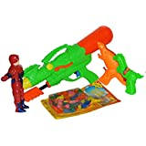 Toyzstation Combo Of Jumbo Space Water Gun, He-man Figure Water Gun, Dino Water Gun, Horse Water Gun With Free...