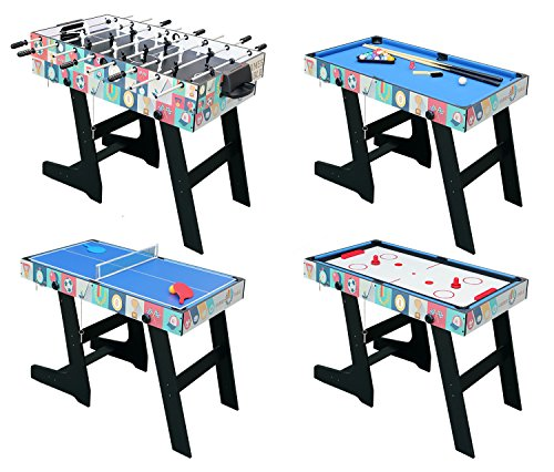 Delightful HLC 4ft Foldable 4 In 1 Multi Game