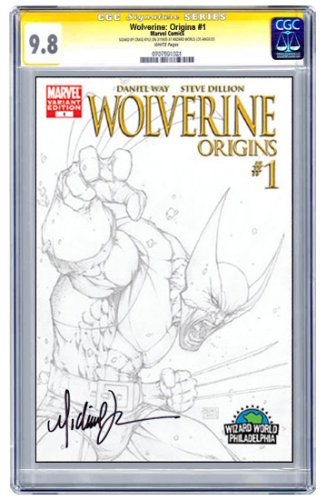 Wolverine: Origins #1 Sketch Variant Cover Signed by Michael Turner CGC Signature 9.8 - Buy Wolverine: Origins #1 Sketch Variant Cover Signed by Michael Turner CGC Signature 9.8 - Purchase Wolverine: Origins #1 Sketch Variant Cover Signed by Michael Turner CGC Signature 9.8 (CGC, Toys & Games,Categories,Games,Card Games,Collectible Trading Card Games)