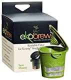 Ekobrew Cup, Refillable Cup for Keurig K-Cup Brewers, Green, 1-Count
