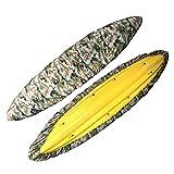 Richermall 2.6m-6m Kayak Canoe Storage Dust Cover- Waterproof UV Sunblock Shield Protector for 7 Sizes Range Fishing Boat/Kayak/Canoe (Suitable for 12.3-13.5ft Kayak, jungle digital)