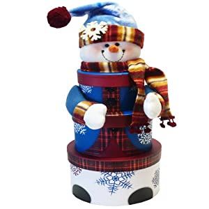 Art of Appreciation Gift Baskets  Snowman Stacking Tower Christmas Holiday Gift Set