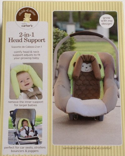Carter's Child of Mine 2 in 1 Head Support Monkey Perfect for car seats strollers bouncers joggers