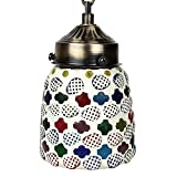 EarthenMetal Handcrafted Multicoloured Mosaic Hanging Light - B018MB8COE