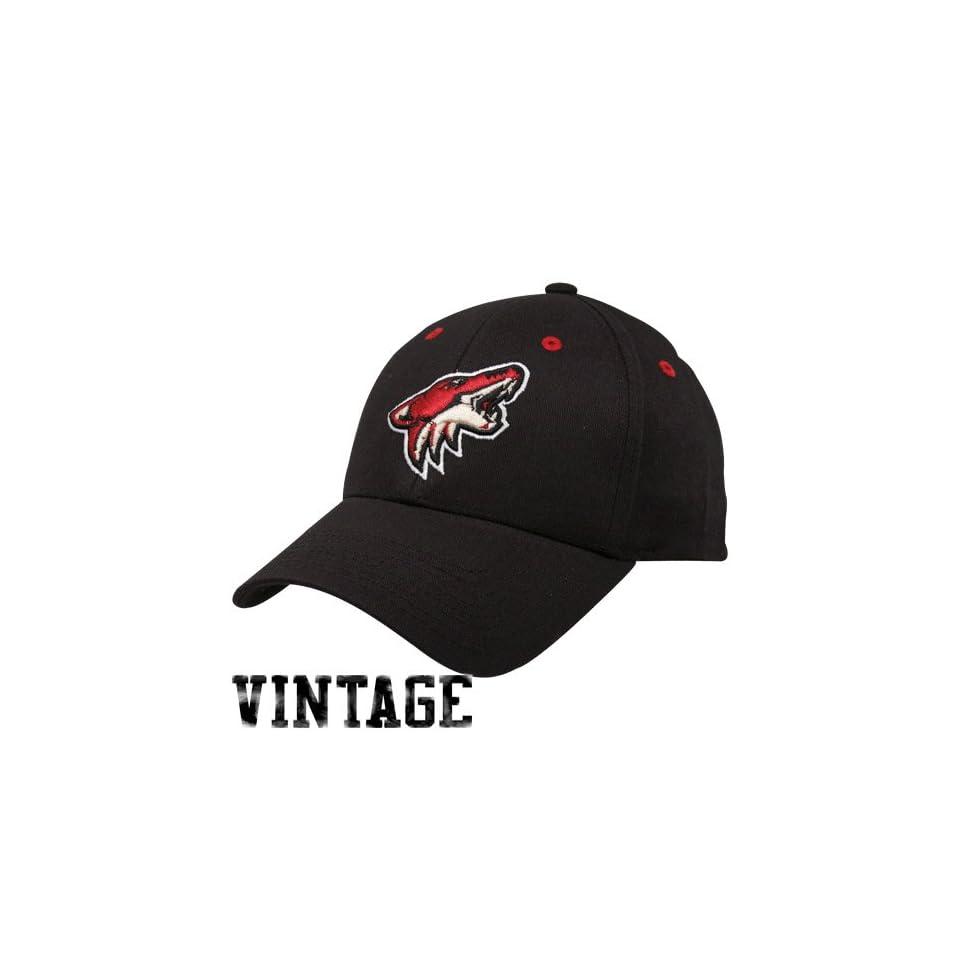 a141cc3e5c6 Old Time Hockey Phoenix Coyotes Black Parker Flex Hat on PopScreen