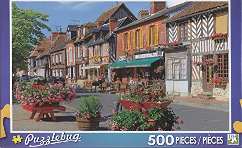 Puzzlebug 500 Piece Puzzle ~ Colorful Buildings Normandy, France