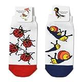 (マドモアゼルパピヨン) Mademoiselle papillon Snail & Lady Bug Socks Set 2枚組