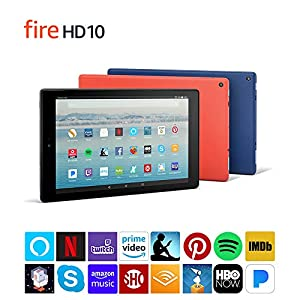 Fire HD 10 Tablet (32 GB, Black, With Special Offers) + Amazon Standing Case (Charcoal Black) (Color: Black)