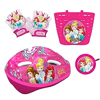 Cinderella Princess Bike Accessory Set of 4 Helmet, Gloves, Bell and Drinking Bottle