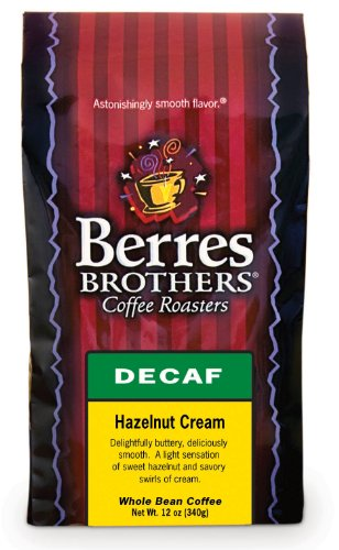 Berres Brothers Hazelnut Cream Decaf Whole Bean Coffee 12 Oz.