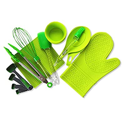 24-Piece Baking Set - Food Grade Silicone Kitchen Accessories - BPA Free, Non-Stick Silicone Baking Cups, Egg Whisk, Butter Brush More - Microwave, Dishwasher, Oven & Freezer Safe - FDA Approved