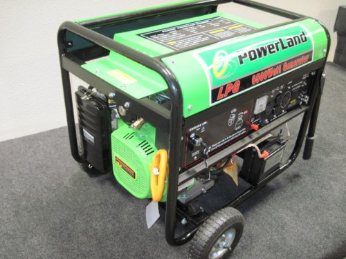 Powerland Pdl6500E Lpg Propane Powered 6500-Watt Generator With Electric Start