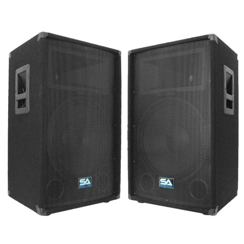 Seismic Audio – Pair of 15″ PA DJ Speakers 700 Watts PRO Audio – Mains, Monitors, Bands, Karaoke, Churches, Weddings