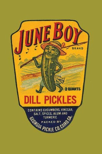 Buyenlarge 0-587-26166-8-P2030 'June Boy Dill Pickles' Paper Poster, 20 by 30-Inch (Dill Pickle Poster compare prices)